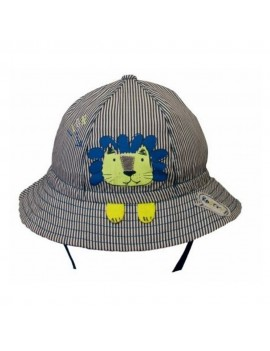 LION BABY SUMMER HAT STRIPES