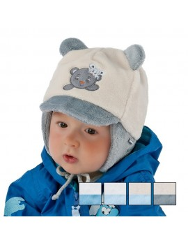 MR BEAR HAT CREAM-GREY