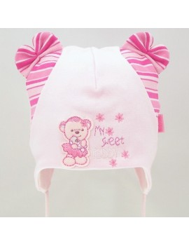 MY SWEET TEDDY BABY HAT PINK