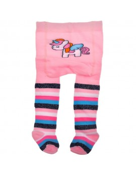 COTTON TIGHTS UNICORN PINK