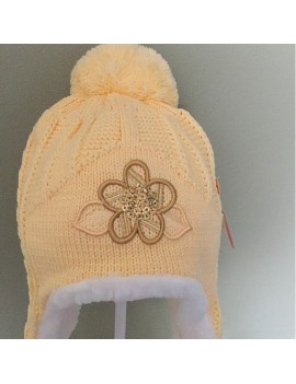 YELLOW FLOWER WINTER HAT