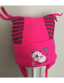 MY KITTY BABY HAT DARK PINK
