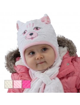 Cute cat hat and scarf