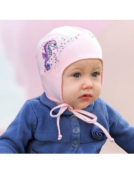 PINK SEAHORSE BABY HAT