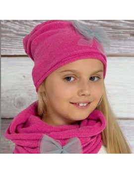 BOW BEANIE WITH SNOOD 2