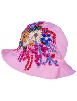 UV +30 FLOWERS HAT MAM PINK