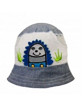 HEDGEHOG SUMMER HAT White/Grey