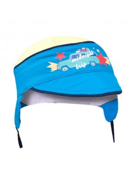 BABY BOY SUMMER CAP WHITE/BLUE