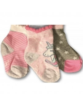 BABY SOCKS 3 PACK GIRL