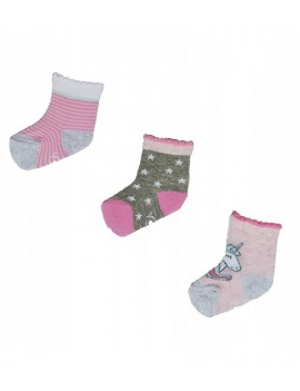 BABY SOCKS 3 PACK GIRL RAINBOW