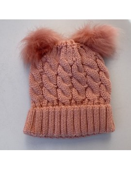 KNITTED BABY HAT PINK