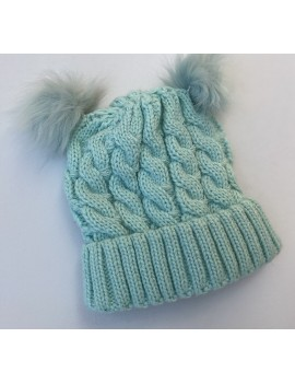 KNITTED BABY HAT TURQUOISE