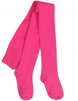 PLAIN COTTON TIGHTS DARK PINK