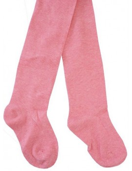 PLAIN COTTON TIGHTS LIGHT PINK
