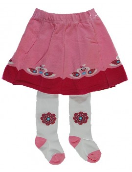 Tights with skirt swans
