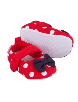 BOW SOFT BABY SHOES RED