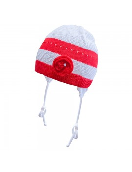 KATE HAT WHITE RED