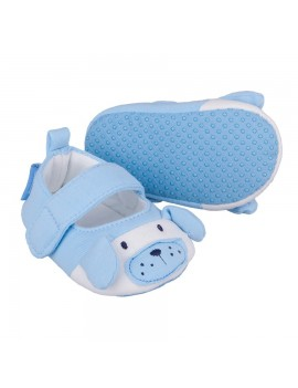 BLUE BABY BOY SOFT SHOES DOGGY