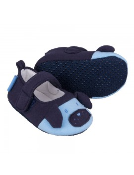 BABY BOY SOFT SHOES DOGGY NAVY
