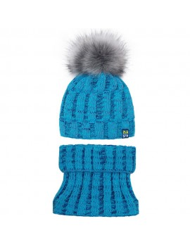 WINTER HAT AND SNOOD SET