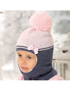 SNOOD HAT BOW PINK