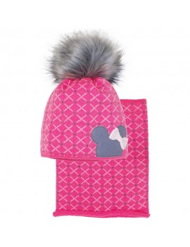 HAT AND SNOOD MINNIE RED