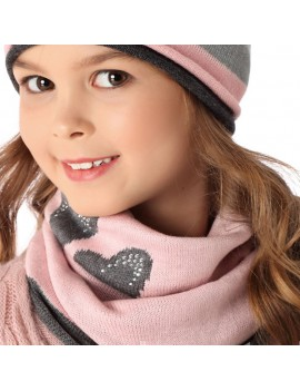 SNOOD WITH HEARTS
